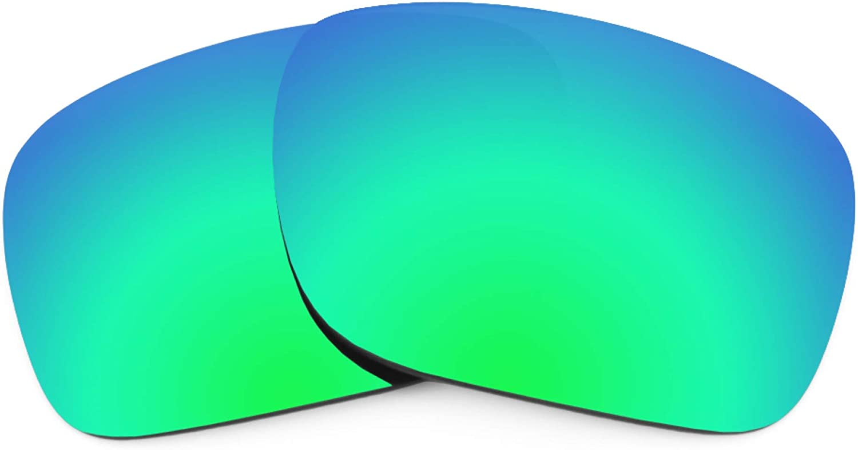 Revant Verres de Rechange pour Oakley Field Jacket - Compatibles avec les Lunettes de Soleil Oakley Field Jacket Vert Émeraude Mirrorshield - Polarisés Elite