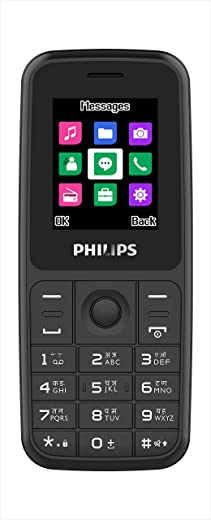 PHILIPS E125 Multimedia Feature Keypad Mobile Basic Bar Phone with Dual SIM, Rear Camara, Call Recording, Music Player, FM, Bluetooth, Support 22…
