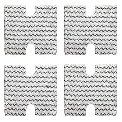 Adouriy 4-Pack Shark Touch Free Dirt Grip Washable Microfiber Pad Replacement for Shark Lift-Away & Genius Steam Mop S3973 S3973D S5002 S5003 S6001 S6002 S6003 Part # XTP184 & P184WQ