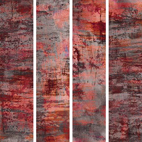 murando - PURO TAPETE - Realistische Tapete ohne Rapport und Versatz 10m Vlies Tapetenrolle Wandtapete modern design Fototapete - Rot Beton Grau f-A-0702-j-a