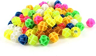 """uxcell 88 Pcs Bike Bicycle Spoke Assorted Color 0.55"""" Dia Plastic Beads Decoration"""