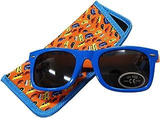 子供用サングラス キッズサングラス UVカット ケース付き KeyStone キーストーン - カー/オレンジ