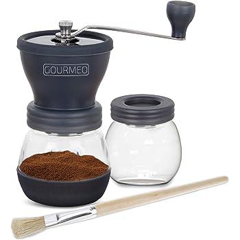 GOURMEO molinillo de café premium de diseño japonés con torno de cerámica | cafetera expreso, molino de café manual, moler a mano, coffee grinder: Amazon.es: Hogar