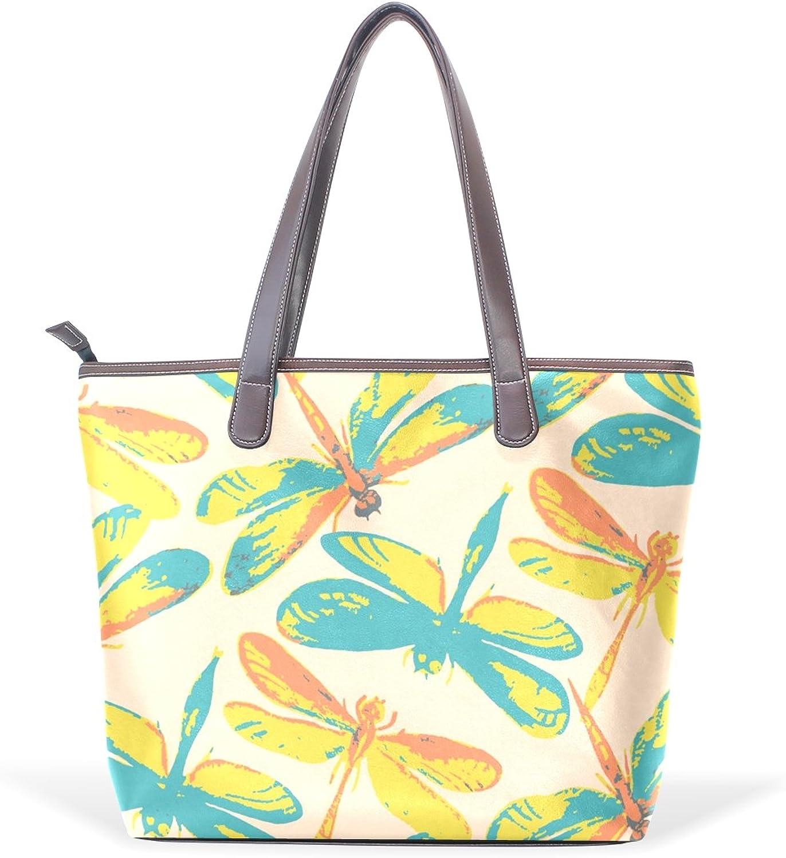 COOSUN Frauen-Schmetterlings-Muster PU-Leder Grosse Handtasche Griff Umhängetasche M (40x29x9) cm muticolour B07412KBPH  Moderne und stilvolle Mode