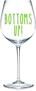'Bottoms Up' Decalcomanie adesive in vinile, adesivi per bicchieri, tazze, cancelleria. Vino, birra. Ottimo regalo.Vino, b...
