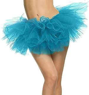 Livingston Women's Adult 3, 4, 5 Layered Tulle Tutu Mini Skirt