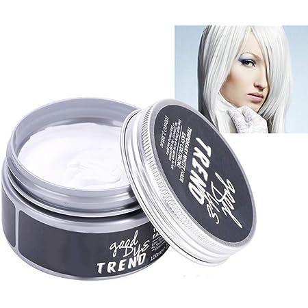 Tinte para el cabello,100ml Lodo para peinar el cabello para hombres, mujeres, desechables, unisex, ungüento para colorear, crema de bricolaje para la ...