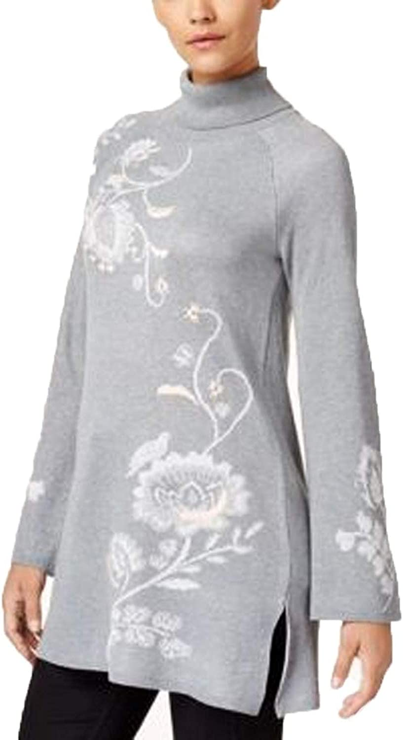 Style & Co...... Embroidered Turtleneck Tunic Sweater