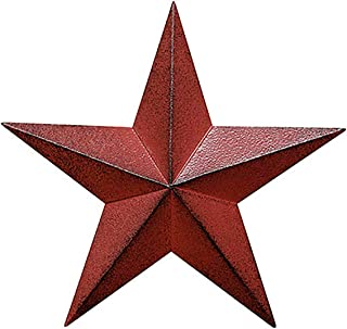 Distressed Country Red Black Burgundy Barn Star Country Primitive Wall Décor