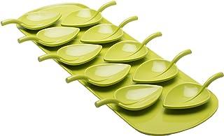 Zak Designs 11-Piece Fulla Tasting Spoons with Tray Set, Kiwi