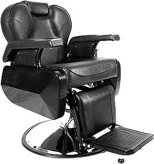 Apelila Professional Swivel Hydraulic Barber Salon Hair Styling Beauty Shampoo Spa Tattoo Bed Shaving Equipment (Recliner Barber Chair)
