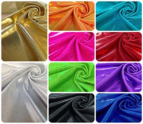 Shiny Finger Foil 4-Way Stretch Heavy Nylon Spandex Fabric (Royal Blue)