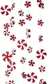 Kurt Adler 8' Plastic Large Candy Swirl Garland