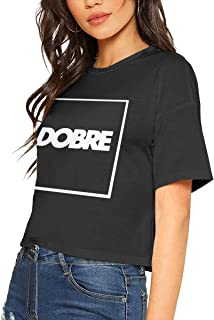 Womens Tshirts Woman Dobre Brothers Crop Tops Black