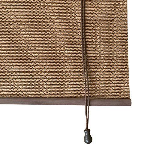 Duo Rollo Ausgezeichneter Hölzerner Rollo mit Haken und Seitenseil, Sonnenjalousien Im Japanischen Stil mit 70% Lichtfilterung, Schnell und Einfach Aufzustellen ( Size : W145cm×H180cm )
