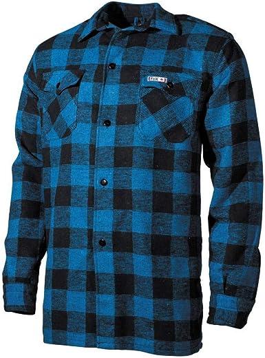 MFH camisa de leñador, colour azul/negro, a cuadros, color ...