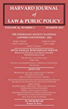 Harvard Journal of Law & Public Policy, Volume 36, Issue 3 (Pages 925 - 1256)