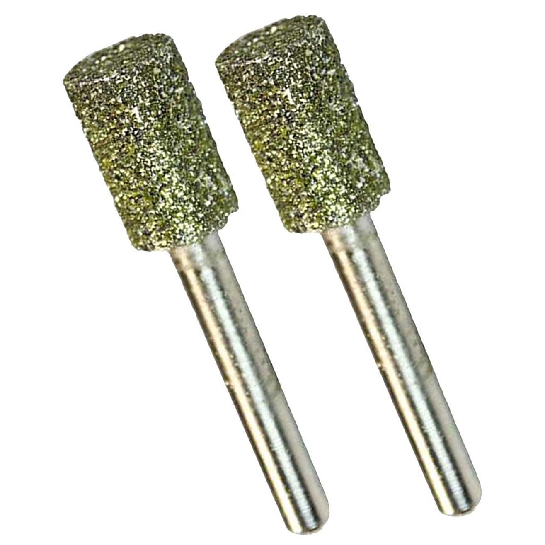 ラボ私たちのエンコミウムダイヤモンドビット 2本セット 6mm 研削 マウントポイント バリ取り 研磨
