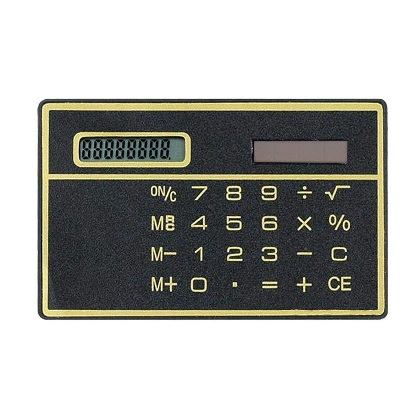 目に見える経験者放射する8桁超薄型ソーラーパワー電卓 ポータブルミニタッチ電卓