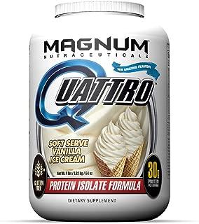 Magnum Nutraceuticals Quattro Soft Serve Vanilla Ice Cream Lactose-Free Protein Powder for Men & Women (4 lbs.)