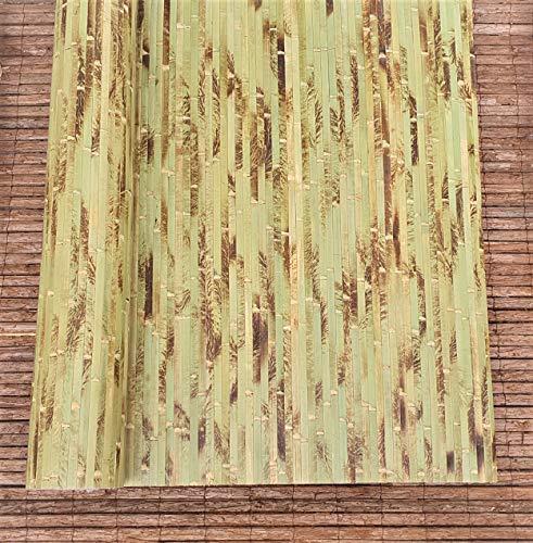 Nature-Lounge24 Bambus Wand und Boden Rollbelag in vielen Musterungen - Exotische Wand und Boden Verkleidung aus massiven Bambuslatten (Höhe: 150 cm / 1 STK. = 1 Meter, Grün getigert)