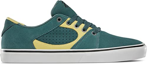 eS Men's Square Three Shoe, Green/Gold, 10 Medium US