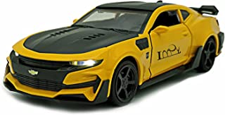 Lmoy Pull Back Diecast Vehicles Toys ,Fast & Furious Camaro 1/32 Scale Car Collection Model with Light and Sound for 3 4 5 6 Years Old Boys and Girls (Yellow)…