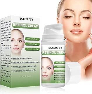 Retinol Cream,Retinol Moisturizer Cream,Retinol Day Night Cream,Anti Aging Cream with Active Retinol Hyaluronic Acid for Face Eye Area Wrinkles Fine Lines Firming Skin