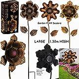 Juego de tres Creekwood (Regal Art & Gift) grande 1,32m (53pulgadas) de alto impermeable altavoz inalámbrico Bluetooth música Garden Flower estacas–1de cada flor, 1, 2y 3