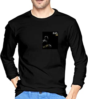 Men`s Ko-Be Our Hero Black Mam-Ba Black T Shirt Shirts for Men Long Sleeve Basketball Fans Clothing