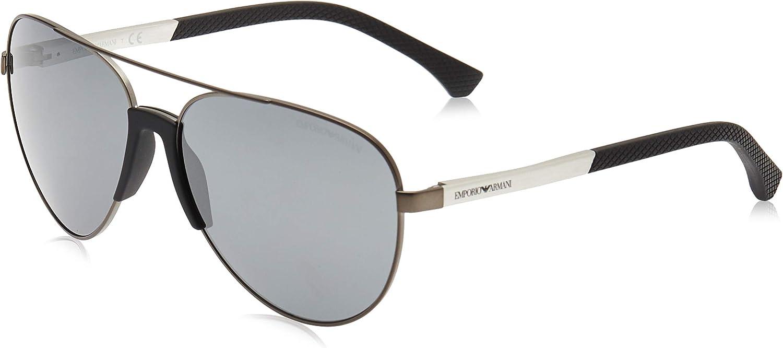 Emporio Armani EA2059 30106G Matte Gunmetal EA2059 Pilot Sunglasses Lens Catego, 61mm