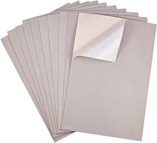 BENECREAT 20PCS Velvet (AntiqueWhite) Fabric Sticky Back Adhesive Back Sheets, A4 Sheet (8.3
