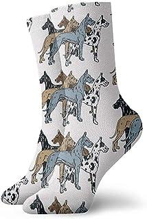 Dydan Tne, Niños Niñas Locos Divertidos Gran Danés Colores Calcetines actualizados Calcetines Lindos de Vestir de Novedad