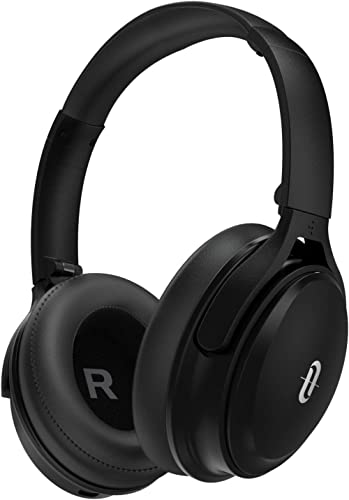 TaoTronics Active Noise Cancelling Bluetooth Headphones Wireless Over Ear Headset Foldable Earphones with Powerful Bass (Dual 40 mm Drivers,45 Hour Playtime, CVC 6.0 Noise-Cancelling Built-in Mic) product image