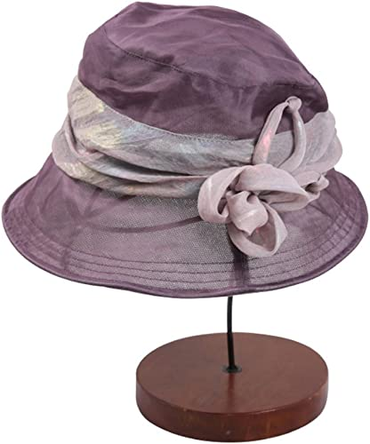Chapeau, de Soleil de Plage Dame d'été Gouttières en Soie Casquette de Soleil écran Solaire élégant Mode Casquette Doux et Confortable