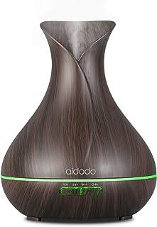 comprar comparacion Aidodo 400ml Humidificador Ultrasónico Aromaterapia,Difusor de Aroma Aceites Esenciales con Vapor Frío, 7-Color LED,4 Temp...