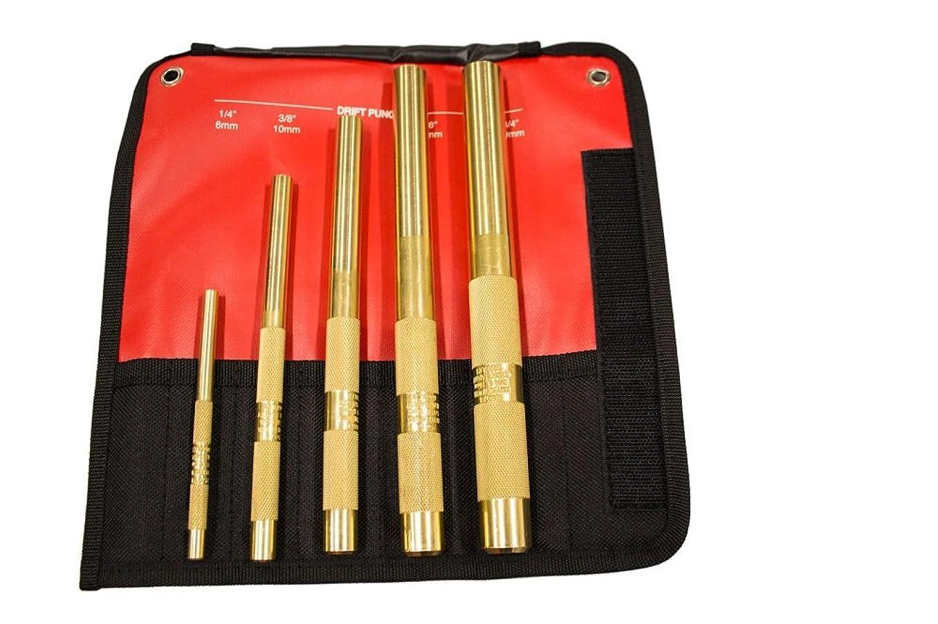 Mayhew Tools 67003 Brass Drift Punch Set (5 Piece)
