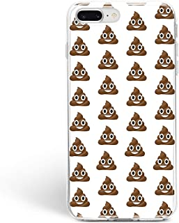 BroStore Poop Emoji Pile of Poo iOS iPhone Clear Silicone Case for iPhone Soft TPU Rubber Gel Protective Sleeve Shockproof (Poop Emoji Pile of Poo iOS, iPhone 5/5S/SE)