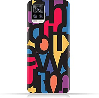AMC Design TPU Mobile Case Cover for vivo V20 2021 with Abstract Fonts Pattern