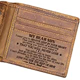 Engraved Leather Bifold Wallet - Dad Son Bifold Wallet - You Will Never Lose (W04-001-DadSon) Gift for Men