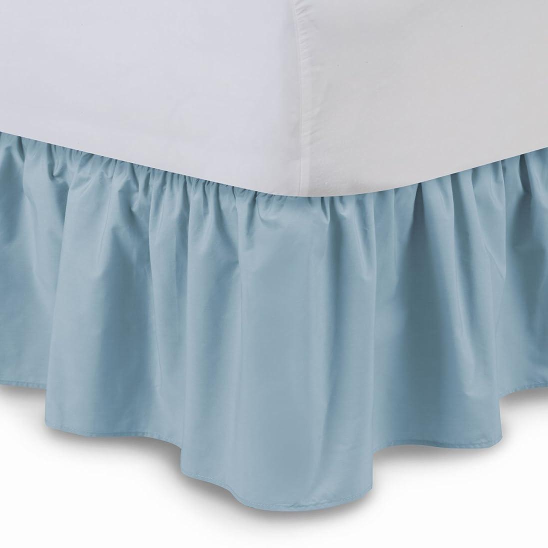 勤勉ホラー芝生Harmony Lane Shop Bedding フリル付きベッドスカート 14インチドロップ プラットフォーム付き 防しわ 色あせ防止  Twin - 14