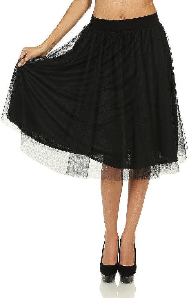 7 Encounter Women's Chic Layered Tulle Skirt