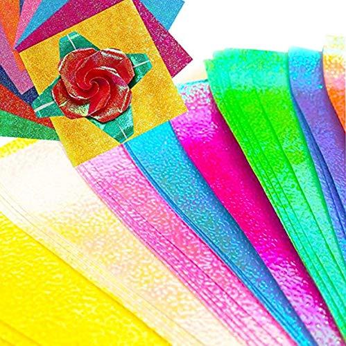 amken キラキラ 折り紙 大きいサイズ きれいな折り紙 綺麗折り紙 25cm 50枚 100枚 (50枚)