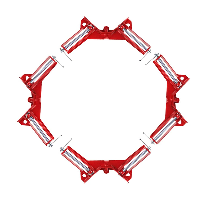 潮自明ハブブOUNONA 4個 コーナー クランプ セット 90° 直角 木工 定規 直角定規 直角クランプ DIY 工具 クランプ (赤)
