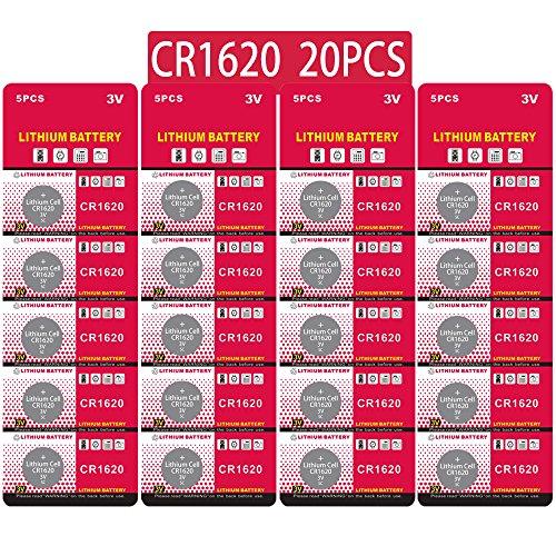 20 Stück CR1620 3V Lithium Knopfzelle Elektro CR 1620 Lithium