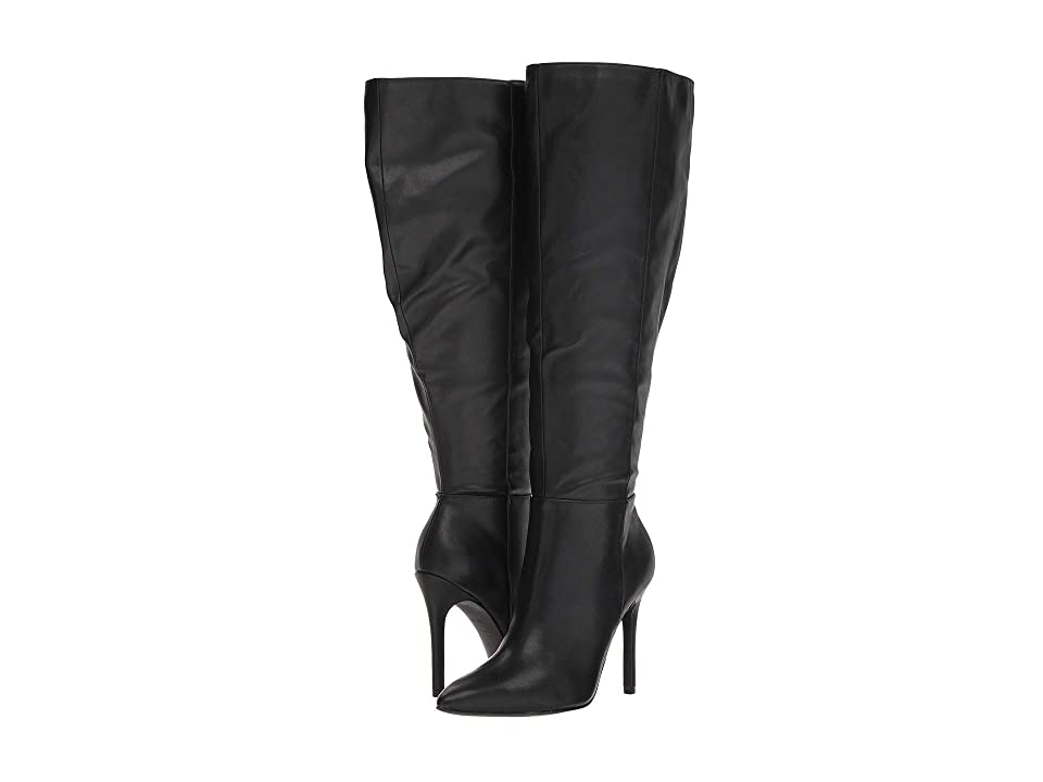 Charles by Charles David Dallan Wide Calf Boot (Black Stretch) Women