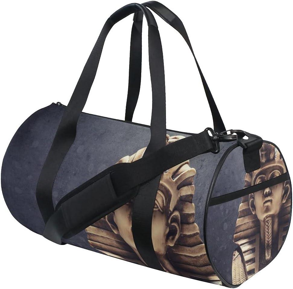 Stone Pharaoh Tutankhamen Mask Sports Gym Bag para mujeres y hombres bolsa de viaje