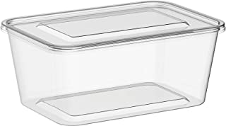 Microwavable Food Container Clear Rectangular - 1500ml - (150)