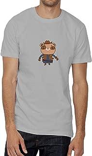 Sheriff Teddy Bear Western_006188 Grey Shirt T-Shirt Camiseta para la Hombres Hombre