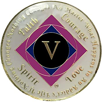 NA 5 Year Gold Color Plated-Medallion, Narcotics Anonymous Coin